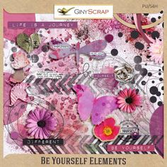 Be Yourself - Elements by Giny Scrap