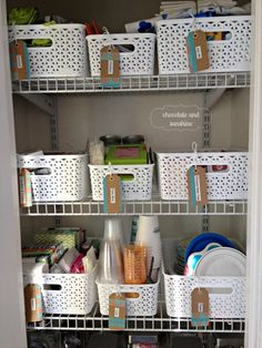 Home Organization/Kitchen Pantry - Chocolate & Sunshine