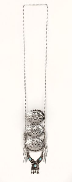 Silver Fringe Concho Necklace at Rustic Grace Trading Company on Etsy @rusticgrace