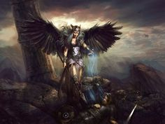 Valkyrie - 30 Mind-Blowing Examples of Angel Art  <3 <3