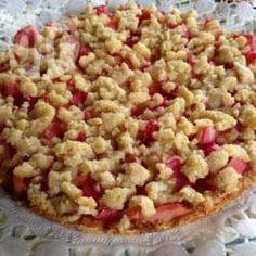 Rezeptbild: Schneller Rhabarberkuchen mit Streuseln