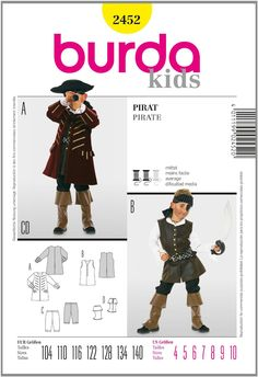 Burda B2452 Patron de Couture Pirate 19 x 13 cm: Amazon.fr: Cuisine & Maison