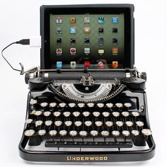 Our lovingly restored typewriters are rejiggered to work as computer keyboards and iPad docks. Use our nifty conversion kit to modify your own typewriter!