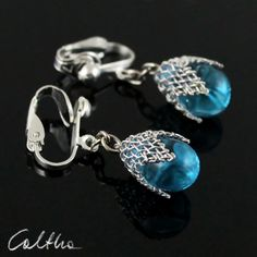 Turquoise in mesh (clips) from Caltha jewellery by DaWanda.com