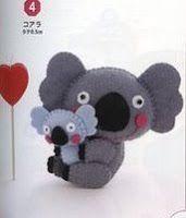 koala bear felt pattern - Google Search