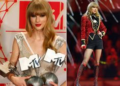 MTV Awards: Taylor Swift was very much the star of the moment as she picked up awards for Best Female Act, Best Live Act and Best Look. The 22-year-old singer also entertained the audience and closed the show with her energetic performance of her hit song, We Are Never Getting Back Together.