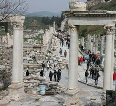 Tourists amoung the Ruins - Ephesus, Turkey - Daily Photo