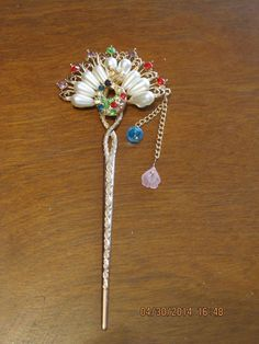 New Girl Women Fashion Pearl & Rhinestone Peacock Ladies Hair Stick Hairpin 71 #Unbranded