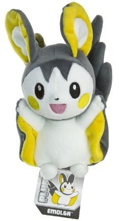 "Pokemon Center USA Black White Plush Toy - 6"" Emolga"