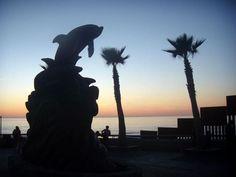 Sunset at the Border - Tijuana/San Diego http://bajabybus.com