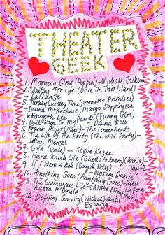 Friday Playlist: Theater Geek