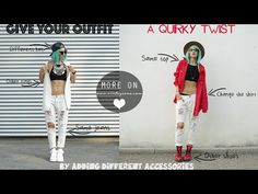 GIVE YOUR OUTFIT A QUIRKY TWIST by VINTAGEENA - YouTube