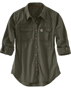 Carhartt Women s Force Ridgefield Shirt  f3248e7c738
