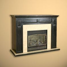 raised panel fireplace surround | Cherry fireplace mantel and ...
