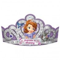Turn each of your princess pals into true royalty with our Sofia the First Tiaras! These sparkly purple Sofia the First Tiaras feature a classic tiara design with images of Princess Sofia. Sofia The First Birthday Party, Sofia Party, Birthday Party Hats, Birthday Ideas, Baby Birthday, Disney Princess Party, Baby Shower Party Supplies, American Greetings, Get The Party Started