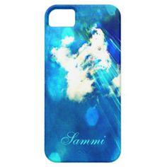 Blue Sky Sparkle iPhone 5 case *Personalize*