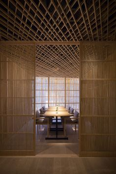 Restaurant architecture - kengo kuma builds hong kong's také restaurant entirely out of bamboo – Restaurant architecture