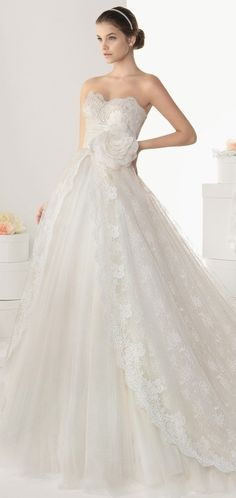 So pretty & delicate. The lace is so romantic