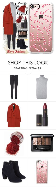 """""""It's 2 days until Christmas! 🎅🏼"""" by casetify ❤ liked on Polyvore featuring Paige Denim, Loma, Zara, Lipstick Queen, Guerlain, Monsoon, Casetify and modern"""
