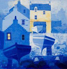 Bright Corner of the Harbour by Scottish artist George Birrell