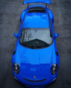 Porsche 991 GT3 RS painted in paint to sample Voodoo Blue  Photo taken by: @redshift75 on Instagram (He is also the owner of the car)
