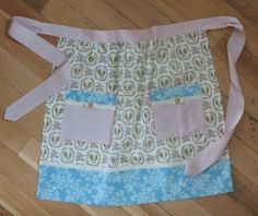 Stampin' Up! Fabric  Beau Chateau Apron photo tutorial  Cheryl Garratt at Stamp Girl