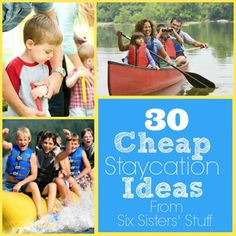 30 Summer Mini Vacation Ideas from sixsistersstuff.com - awesome ideas the whole family will love! #vacation