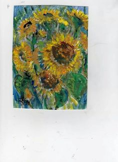 Sunflowers gouache Richard plumley