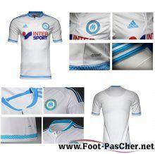 Maillot Du Olympique Marseille OM Blanc Domicile 15 2016 2017 Pas Chere