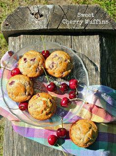 Sweet Cherry Muffins - Living Tastefully