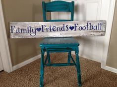 Rustic Barnwood sign Family Friends Football by TheCountryGlitter