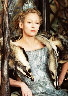 Tilda Swinton as Jadis the White Witch in the Lion the Witch and the Wardrobe - Chronicals of Narnia White Witch Narnia, Jadis The White Witch, Villain Costumes, Movie Costumes, Family Costumes, Tilda Swinton, Saga, Narnia Costumes, Cinema