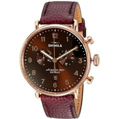 Shinola Detroit The Canfield 43mm - 20044135 (Oxblood Football... (52.435 RUB) ❤ liked on Polyvore featuring men's fashion, men's jewelry, men's watches, mens leather watches, mens diamond bezel watches, mens chronograph watches, mens blue dial watches and mens analog watches