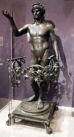 Bronze statue of Bacchus from Pompeii, 2nd century BC http://hadrian6.tumblr.com