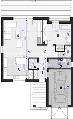 Projekt domu Maja 133,72 m² - koszt budowy - EXTRADOM Architectural House Plans, Floor Plans, How To Plan, Home, Houses, Kitchens, Projects, Ad Home, Homes