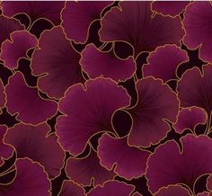 fabric with ginkgo biloba pattern - Google Search
