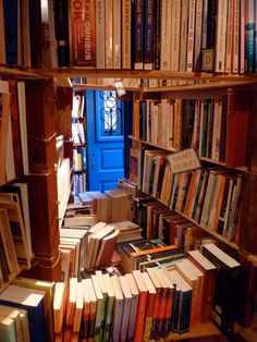 Overstuffed, higgeldy-piggeldy bookstores in little nooks and crannies of beautiful places.  