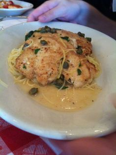 It was a favorite at Willow's Holiday Party 2012! Chicken Piccata at Maggiano's...Yummo!