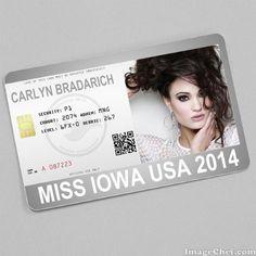 Carlyn Bradarich Miss Iowa USA 2014 card