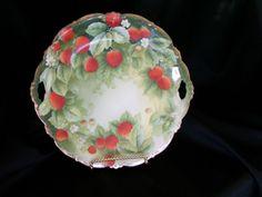 Bavarian Porcelain handpainted Strawberry Plate design