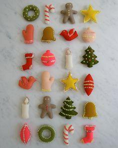 diy felt ornaments / purl bee
