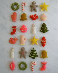 diy felt ornaments / purl bee