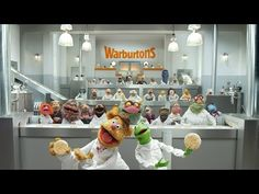 #manikinhead #food Warburtons Muppets Advert - The Giant Crumpet Show