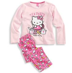 Boys And Girls Clothes, Girls Tees, Cute Baby Clothes, Diy Clothes, Kids Girls, Hello Kitty, Lazy Day Outfits, Night Suit, Girls Sleepwear