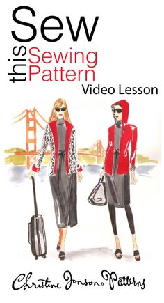 Sew a reversible hoodie jacket that is EASY to sew and FUN to wear.