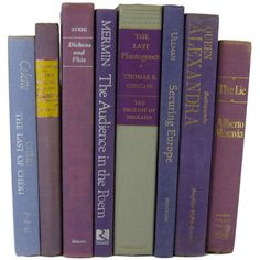 Light Purple Decorative Books Vintage Book Decor Photo Prop Bookshelf... ($45) ❤ liked on Polyvore featuring home, home decor, other, vintage home decor and vintage home accessories
