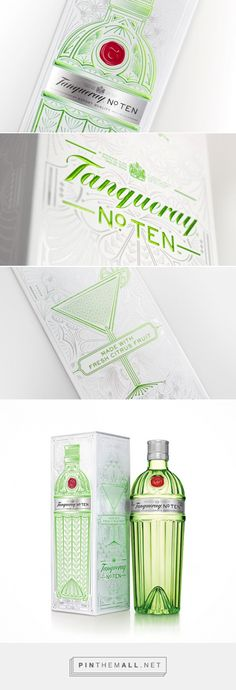 Tanqueray No. TEN Gin Gift Pack designed by ButterflyCannon​ - http://www.packagingoftheworld.com/2015/11/tanqueray-no-ten-gift-pack.html