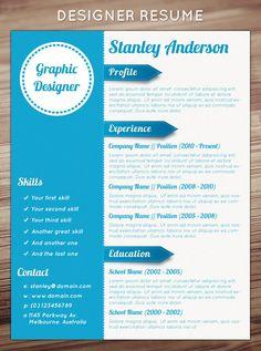Graphic Designer Resume Template Design Creative Templates Cv