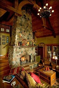 stairs wit fireplace - Google zoeken