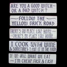 Kitchen & Wizard of Oz, Folkism Set 21 via Etsy